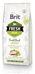 Brit Fresh Duck & Millet Adult Run & Work.