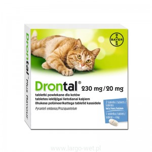 DRONTAL CAT  - 2 TABLETKI  BAYER