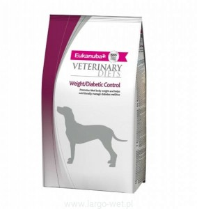 EUKANUBA VETERINARY DIET WEIGHT/DIABETIC CONTROL DRY DOG